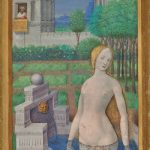 Bathsheba Bathing; Jean Bourdichon (French, 1457 - 1521); Tours, France; 1498 - 1499; Tempera and gold on parchment; Leaf: 24.3 × 17 cm (9 9/16 × 6 11/16 in.); 2003.105.recto